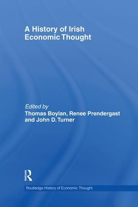 A History of Irish Economic Thought (Hardback) book cover