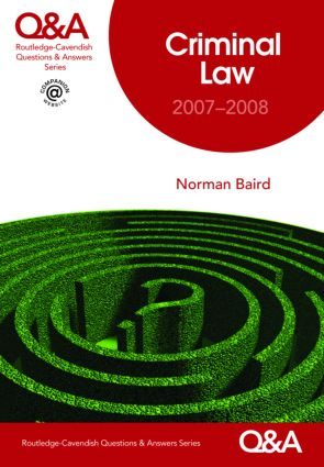 Q&A Criminal Law 2007-2008 book cover