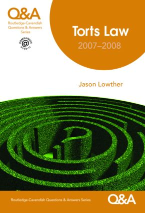 Q&A Torts 2007-2008 7/e book cover