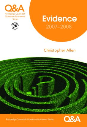 Q&A Evidence 2007-2008 book cover
