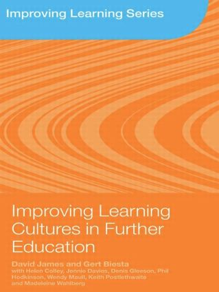 Improving Learning Cultures in Further Education (Paperback) book cover