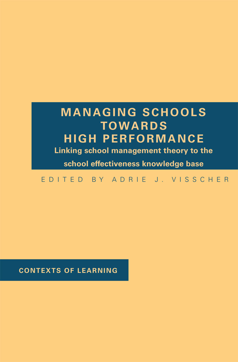 Managing Schools Towards High Performance book cover