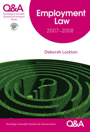 Q&A Employment Law 2007-2008 book cover