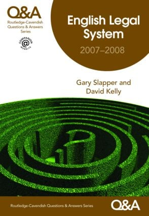 Q&A English Legal System 2007-2008 book cover