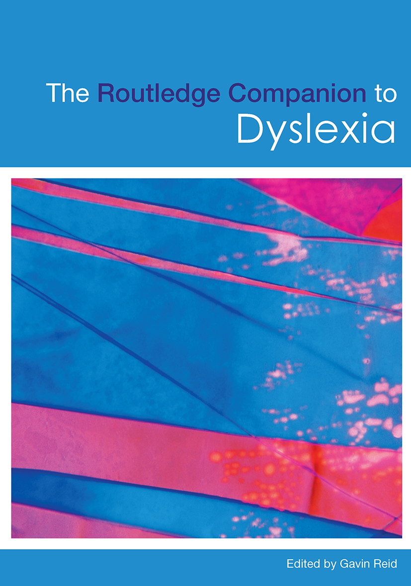 The Routledge Companion to Dyslexia (Paperback) book cover