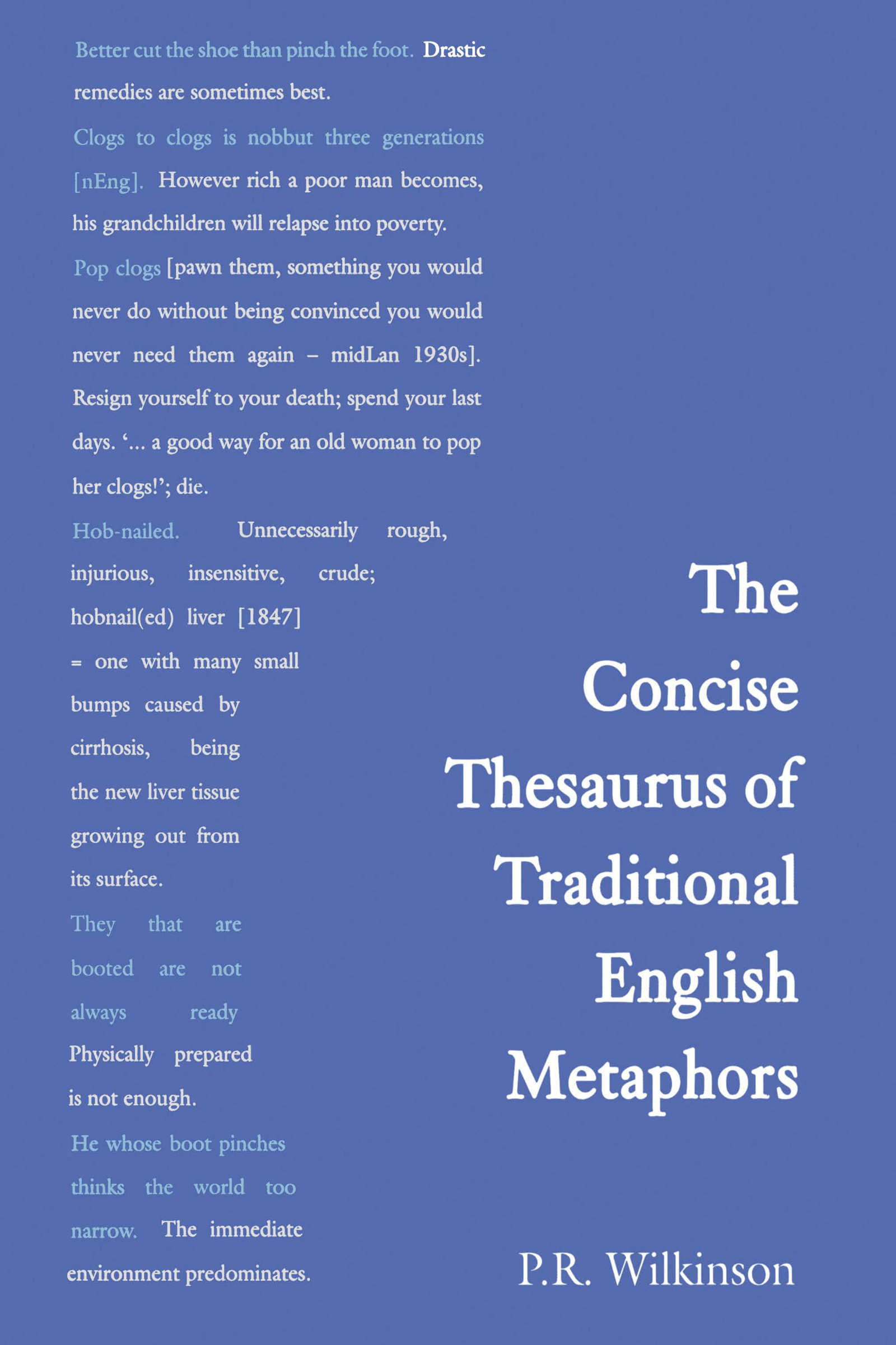Concise Thesaurus of Traditional English Metaphors