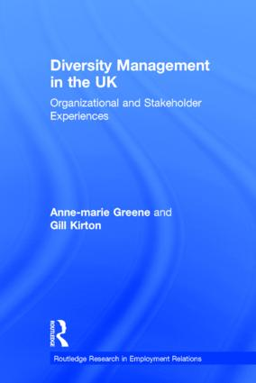 Diversity Management in the UK: Organizational and Stakeholder Experiences book cover