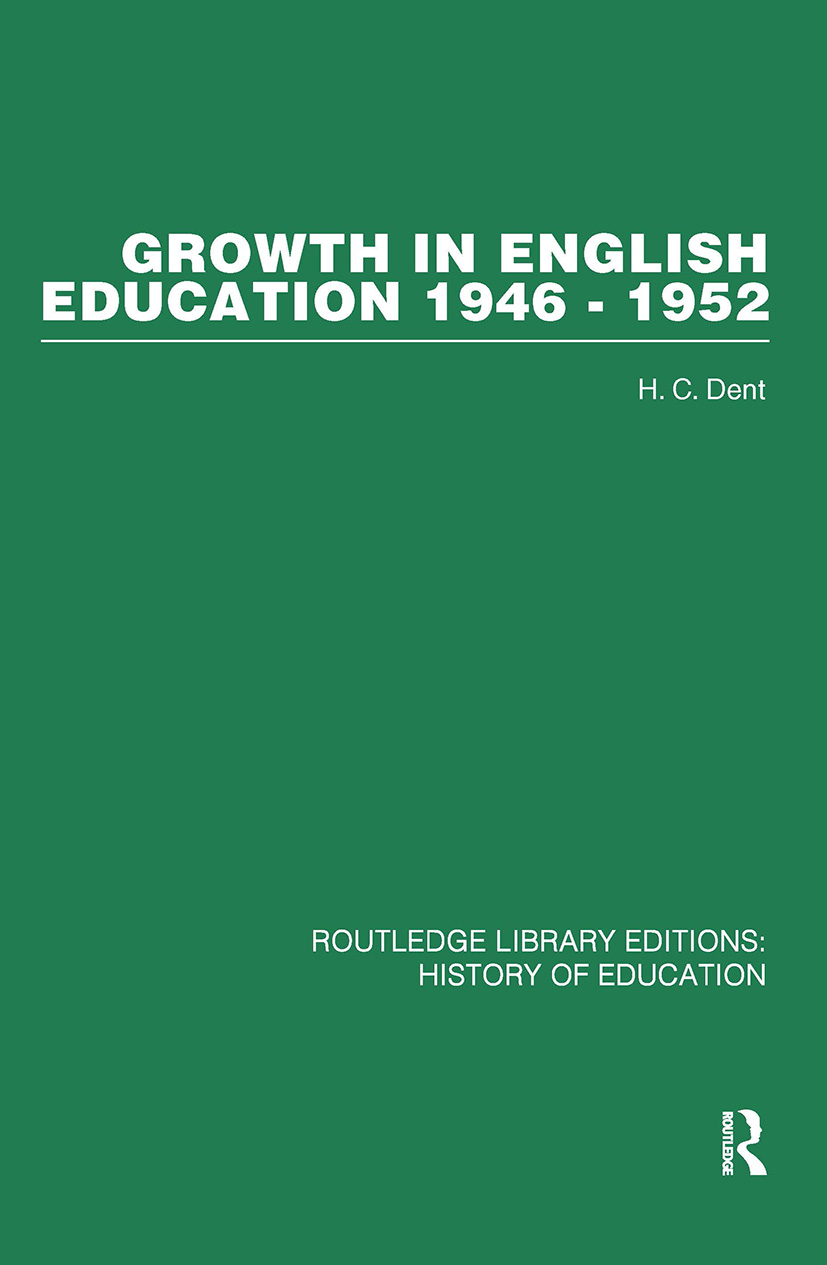 Growth in English Education: 1946-1952 (Hardback) book cover
