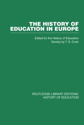 The History of Education in Europe (Paperback) book cover
