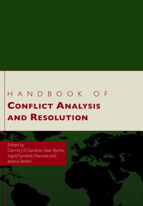 Handbook of Conflict Analysis and Resolution: 1st Edition (Hardback) book cover