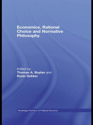Economics, Rational Choice and Normative Philosophy (Hardback) book cover