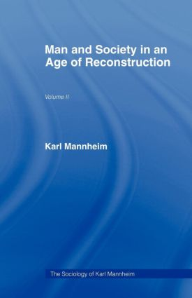 Man & Soc Age Reconstructn V 2: 1st Edition (Paperback) book cover