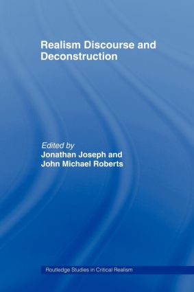 Realism Discourse and Deconstruction (Paperback) book cover