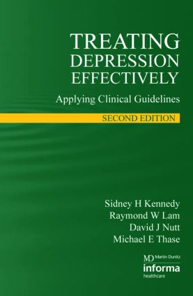 Treating Depression Effectively: Applying Clinical Guidelines, 2nd Edition (Paperback) book cover