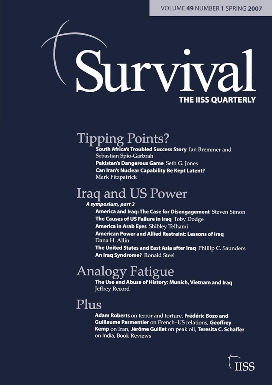 Survival 49.1: Survival 49.1, Spring 2007 book cover