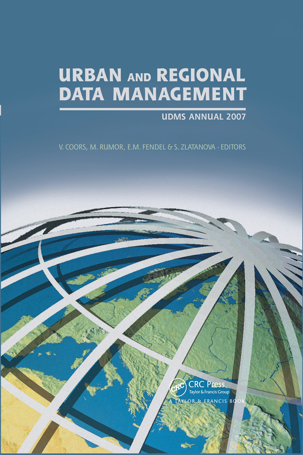 Urban and Regional Data Management: UDMS 2007 Annual, 1st Edition (Hardback) book cover