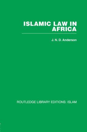 Islamic Law in Africa (Hardback) book cover