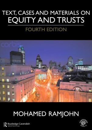 Text, Cases and Materials on Equity and Trusts: 4th Edition (Paperback) book cover