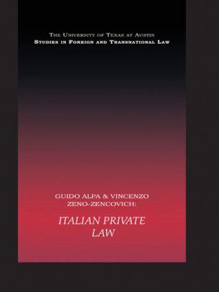 PB Direct Italian Private Law (Paperback) book cover