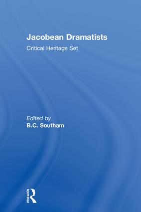 Jacobean Dramatists: Critical Heritage Set, 1st Edition (Hardback) book cover