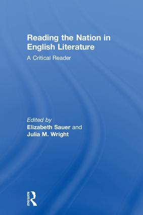 Reading the Nation in English Literature: A Critical Reader book cover