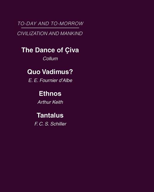 Civilization and Mankind: Mini-set A Today & Tomorrow 2 vols: Today and Tomorrow, 1st Edition (Hardback) book cover