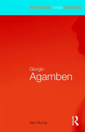 Giorgio Agamben: 1st Edition (Paperback) book cover
