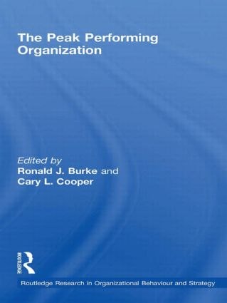 The Peak Performing Organization (Hardback) book cover