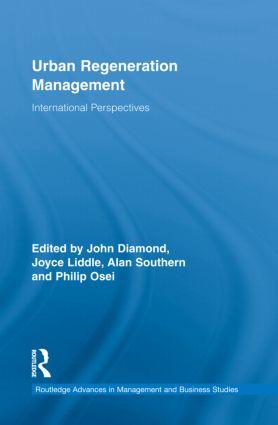 Urban Regeneration Management: International Perspectives (Hardback) book cover