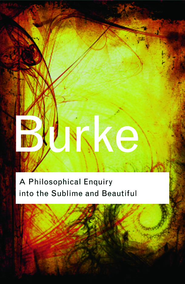 A Philosophical Enquiry Into the Sublime and Beautiful (Paperback) book cover