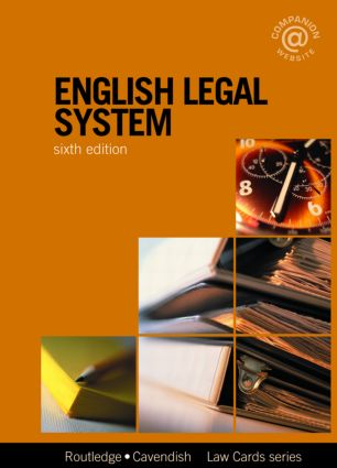 English Legal System Lawcards 6/e