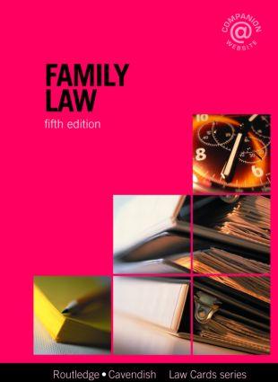 Family Lawcards 5/e