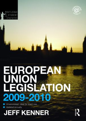 European Union Legislation 2009-2010 book cover