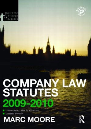 Company Law Statutes 2009-2010 book cover