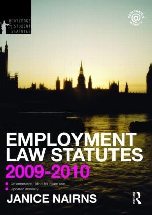 Employment Law Statutes 2009-2010 book cover