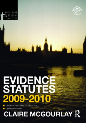Evidence Statutes 2009-2010 book cover