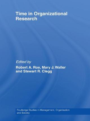 Time in Organizational Research: 1st Edition (Hardback) book cover