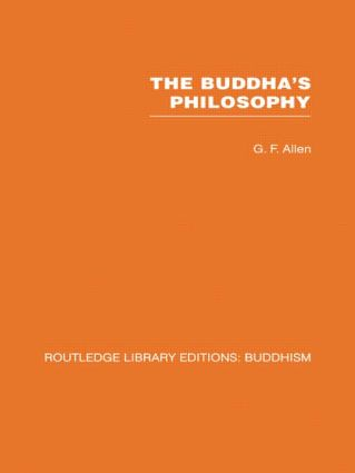 The Buddha's Philosophy: Selections from the Pali Canon and an Introductory Essay (Hardback) book cover