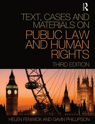Text, Cases and Materials on Public Law and Human Rights: 3rd Edition (Paperback) book cover