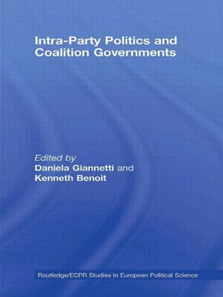 Intra-Party Politics and Coalition Governments (Hardback) book cover
