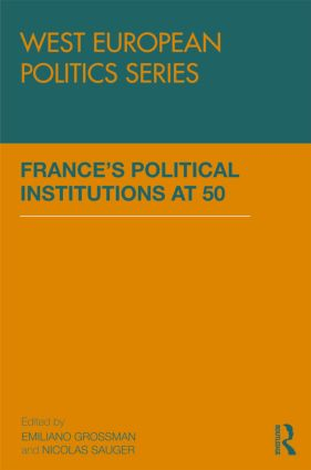 France's Political Institutions at 50: 1st Edition (Paperback) book cover