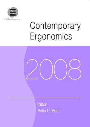 Contemporary Ergonomics 2008: Proceedings of the International Conference on Contemporary Ergonomics (CE2008), 1-3 April 2008, Nottingham, UK (Paperback) book cover