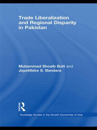 Trade Liberalisation and Regional Disparity in Pakistan (Hardback) book cover