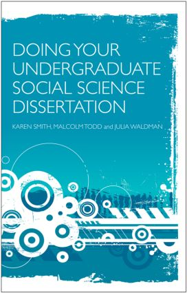 Doing Your Undergraduate Social Science Dissertation: A Student's Handbook, 1st Edition (Paperback) book cover