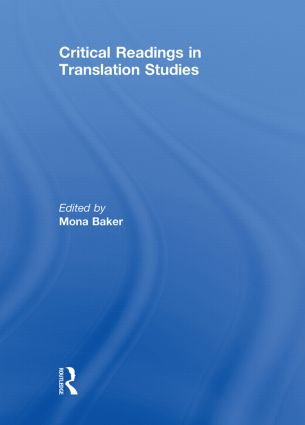 Critical Readings in Translation Studies (Hardback) book cover