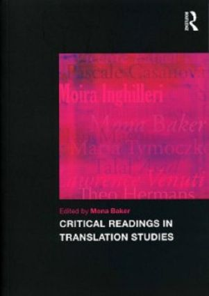 Critical Readings in Translation Studies: 1st Edition (Paperback) book cover