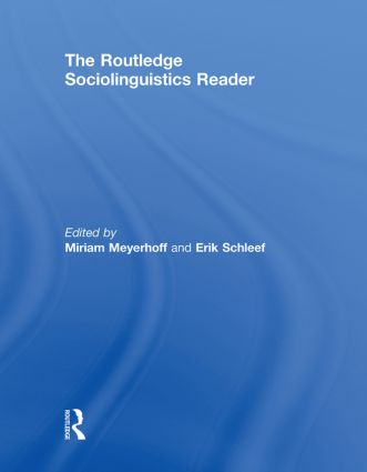 The Routledge Sociolinguistics Reader (Hardback) book cover