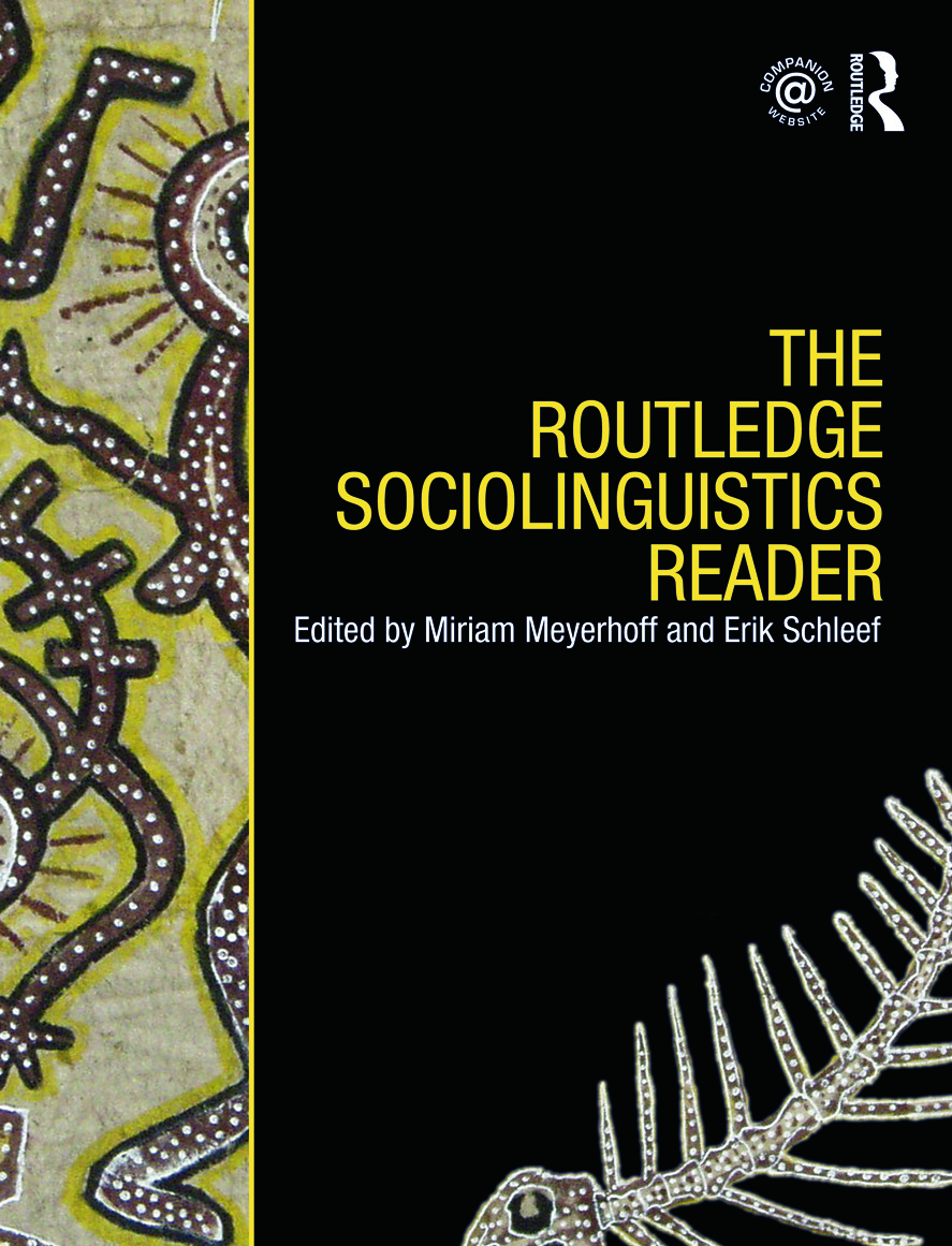 The Routledge Sociolinguistics Reader (Paperback) book cover