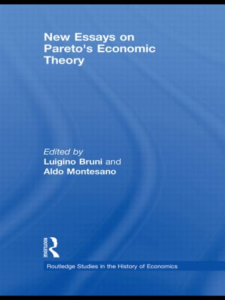 New Essays on Pareto's Economic Theory (Hardback) book cover