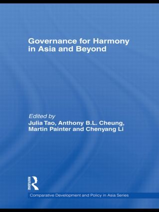 Governance for Harmony in Asia and Beyond (Hardback) book cover